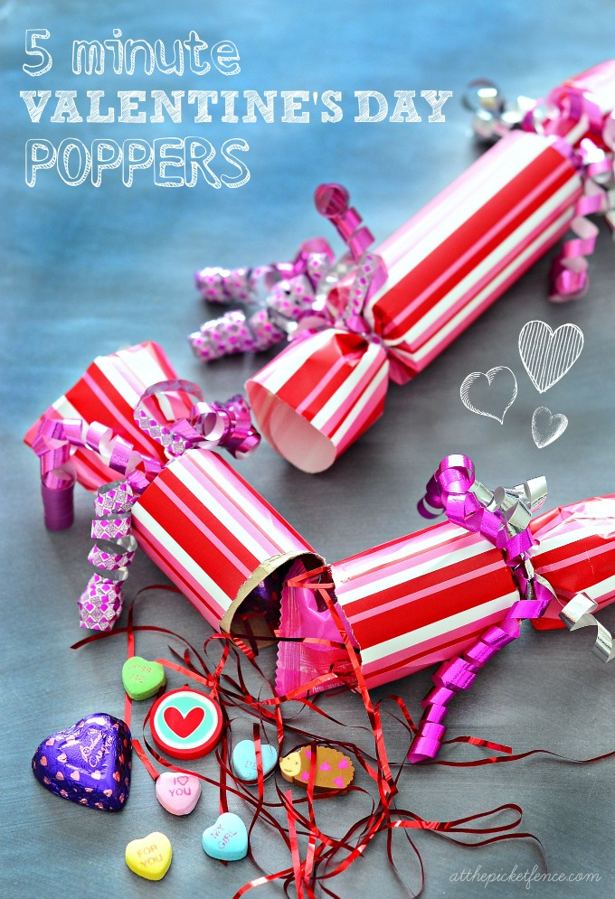 Take Five: DIY Poppers for Valentines Day