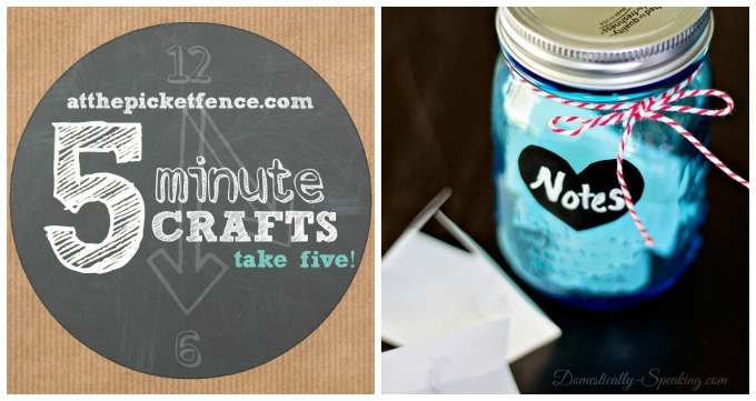 Five Minute Valentine S Day Craft Notes Jar