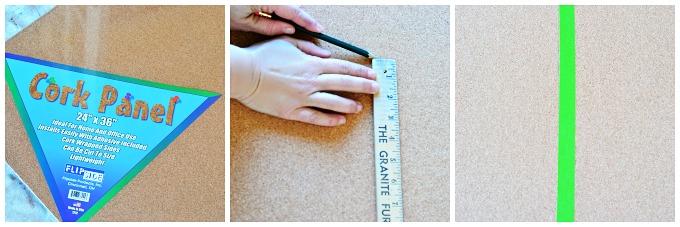 Painted Cork Board Tutorial 1