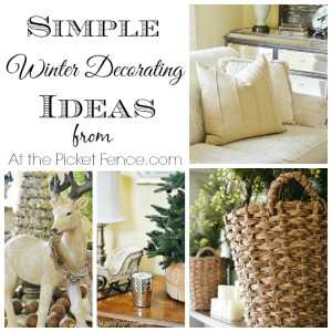 Simple winter decorating ideas from atthepicketfence.com