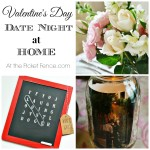 Valentine's Day date night at home atthepicketfence.com