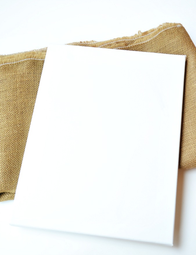 canvas with burlap