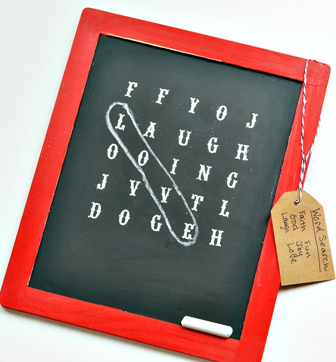 chalkboard word search puzzle