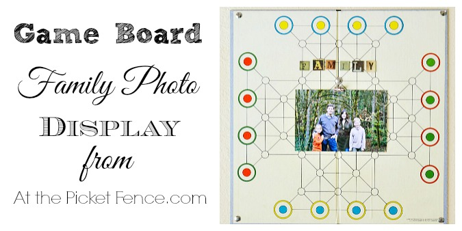 Game Board Family Photo Display1 from atthepicketfence.com