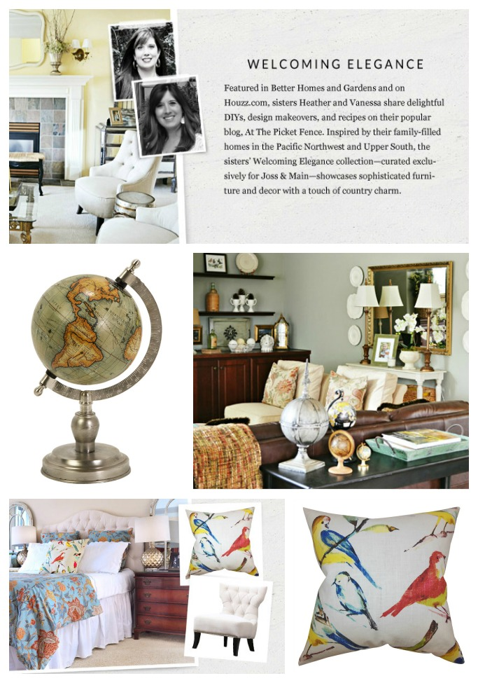 A sneak peek of our joss and main collection at the picket fence Home decor joss and main