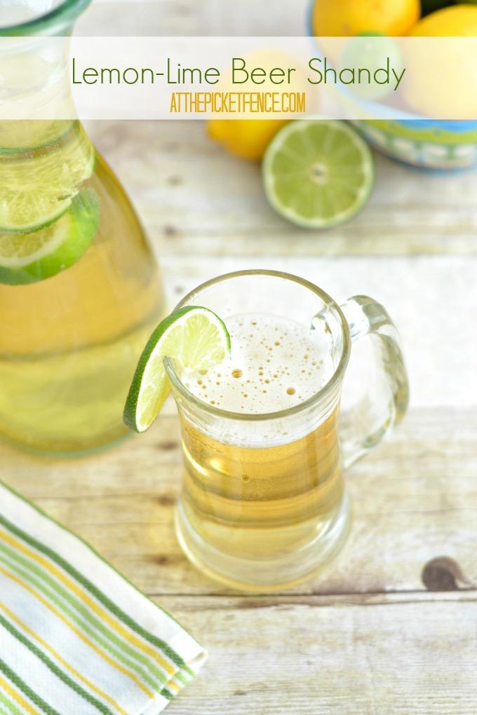 Lemon-Lime Beer Shandy Cocktail