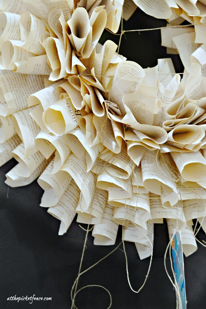 Mary Kay Andrews book page wreath
