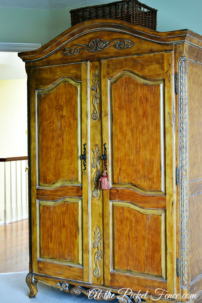 french country armoire atthepicketfence.com