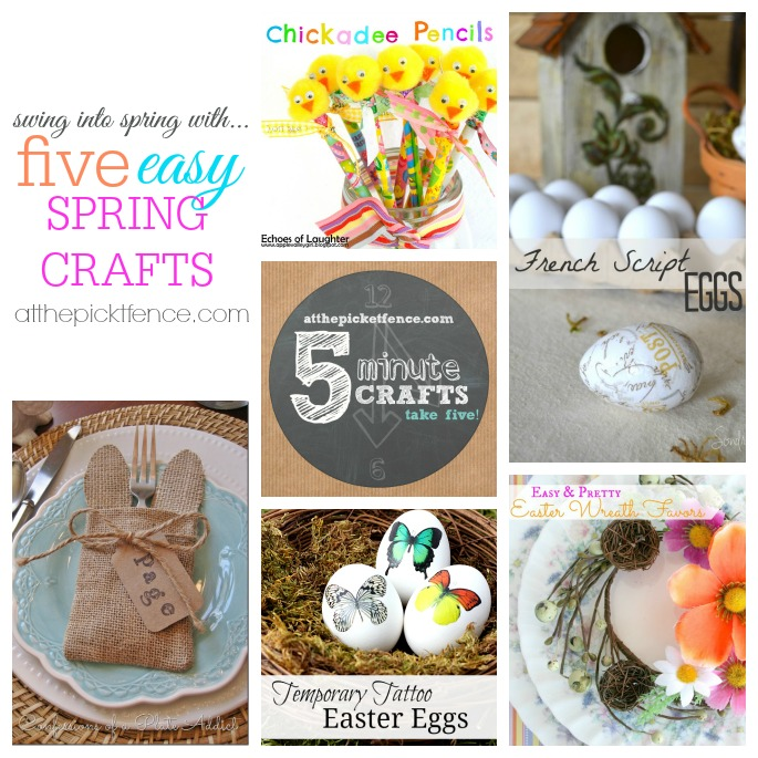 Take Five: Five Five Minute Spring Crafts!