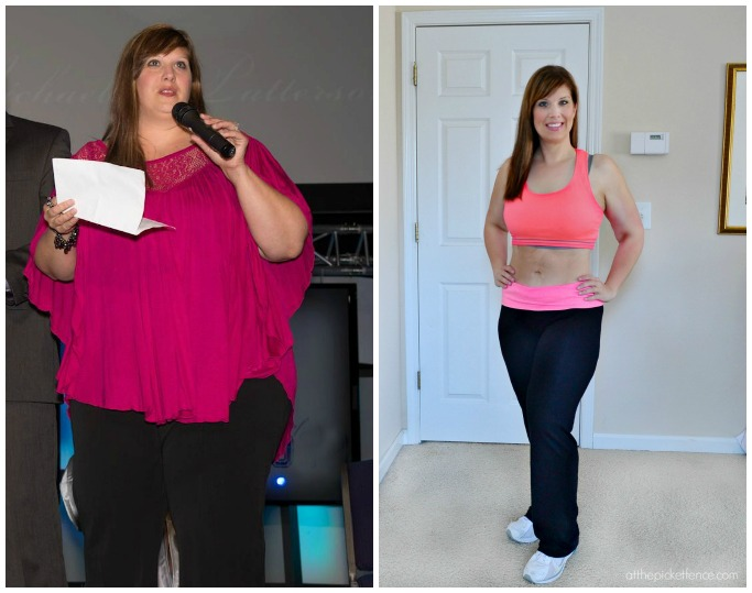 Heather before and after 100 pounds