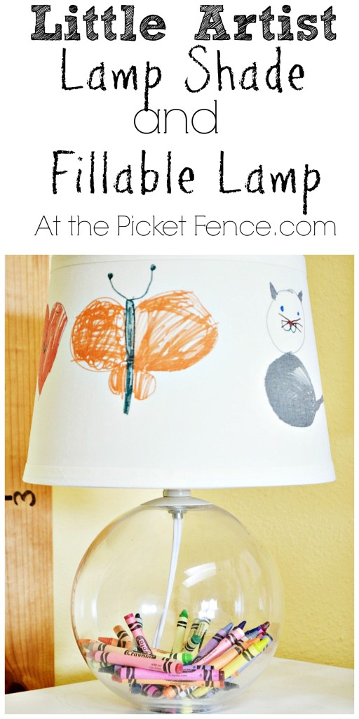 Little Artist Lamp and Crayon fillable lamp from atthepicketfence.com