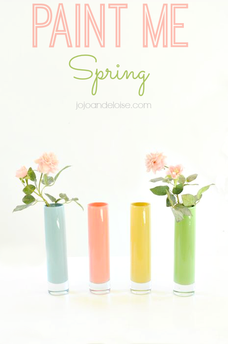 How to Paint Glass Bud Vases for Spring
