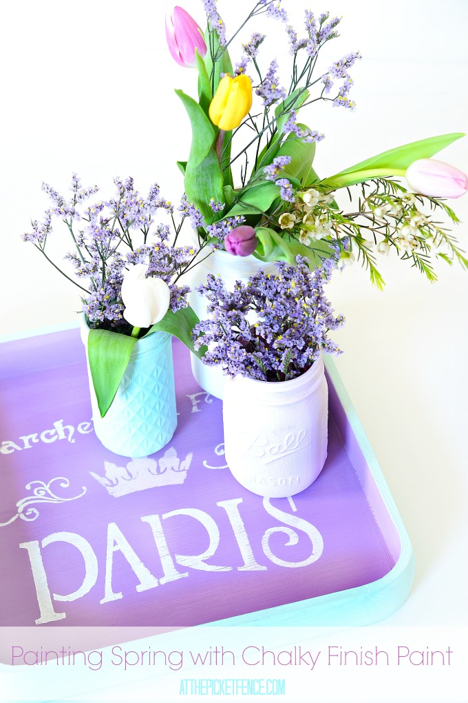 Painted Spring Projects with chalky paint