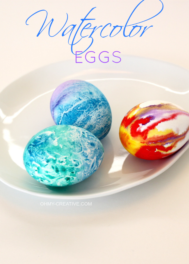 Watercolor Easter Eggs from Oh My Creative