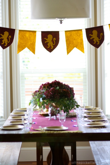 Narnia party table decor