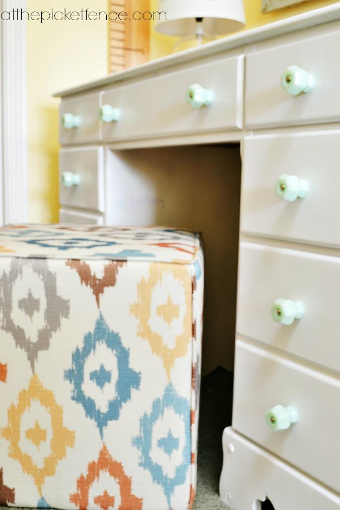 cube stool ottoman as art desk chair