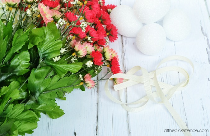 flower Easter egg supplies