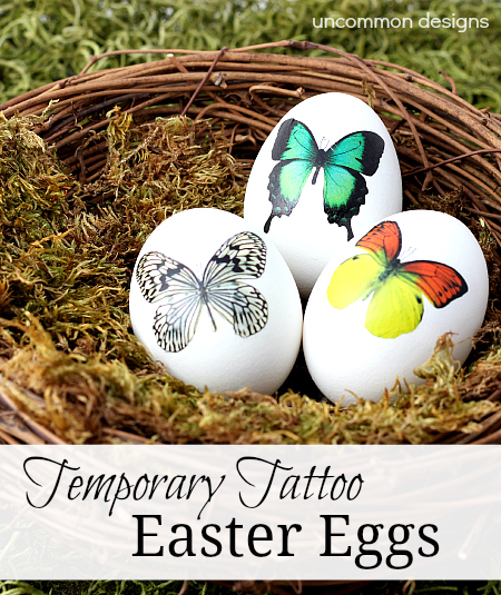 Temporary Tattoo Easter Eggs from Uncommon Designs