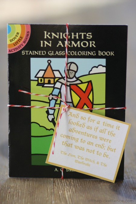 knight coloring book favor