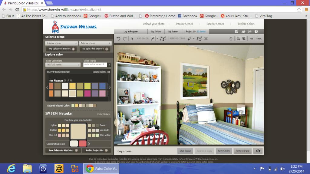paint color visualizer screen shot