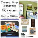 tween boys makeover with Sherwin-Williams paint