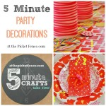 5 Minute Party Decorations atthepicketfence.com