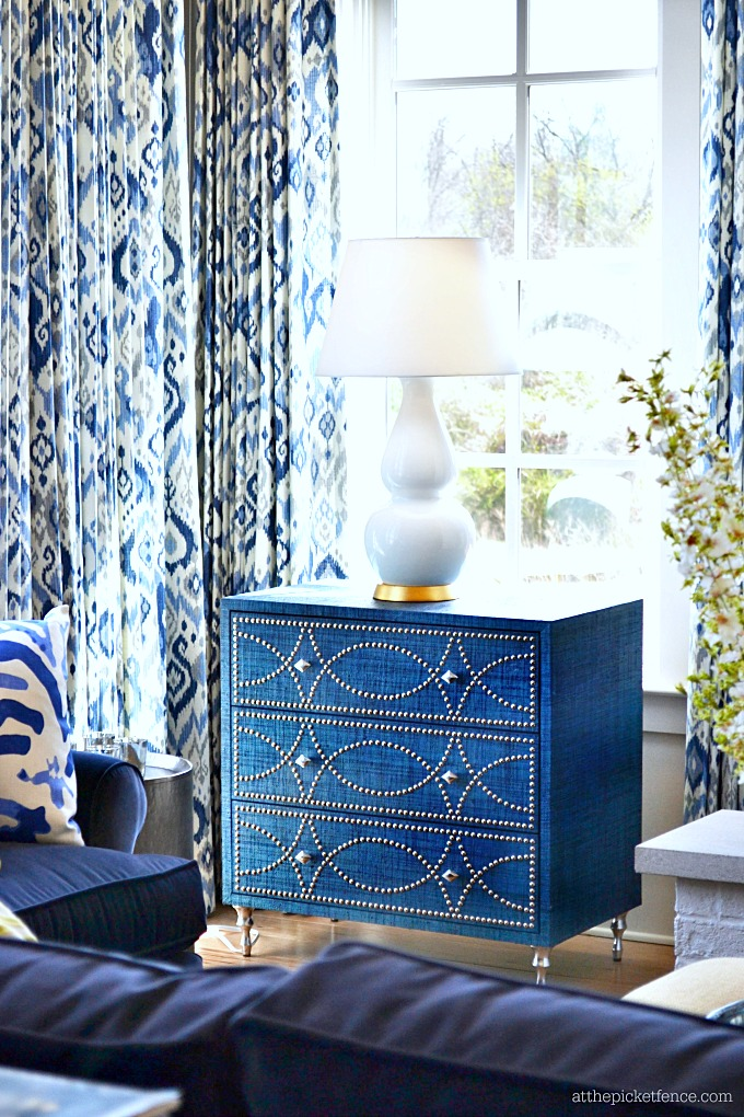 Blue Chest with Nailhead Trim