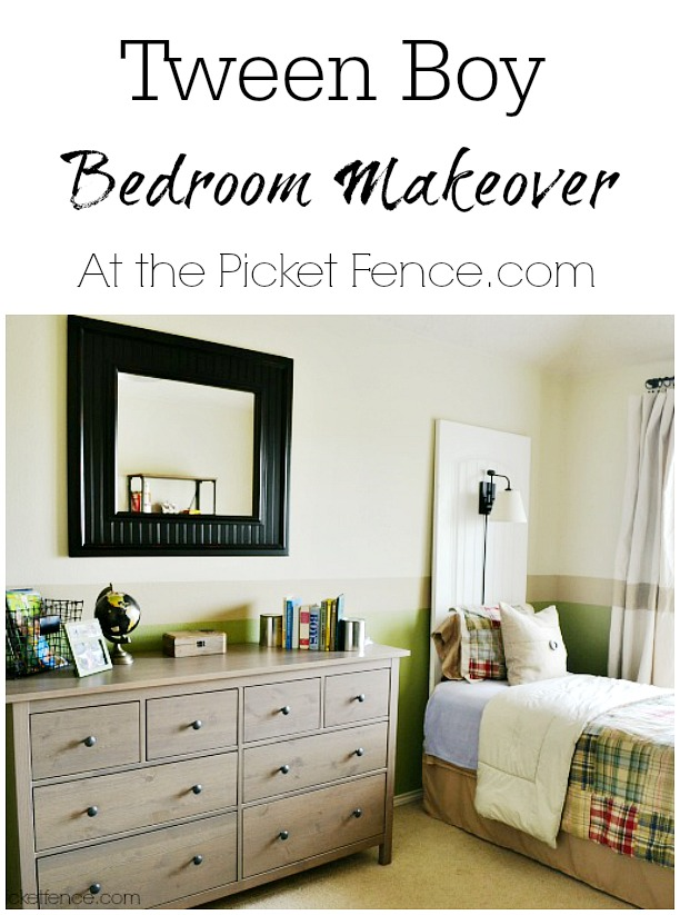 Tween-Boy-Bedroom-Makeover atthepicketfence.com