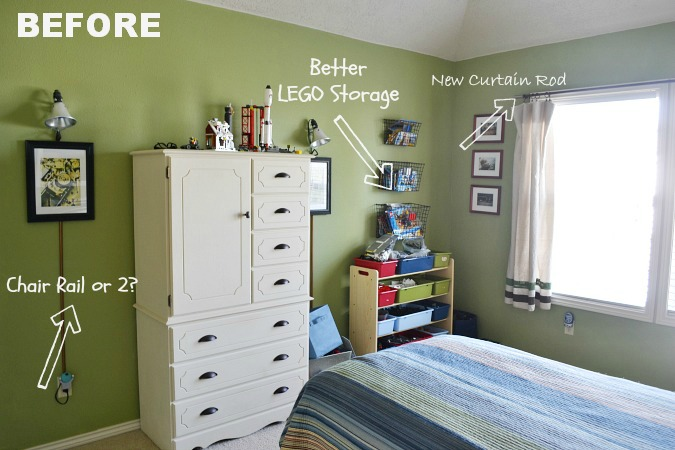 boys room makeover before plans