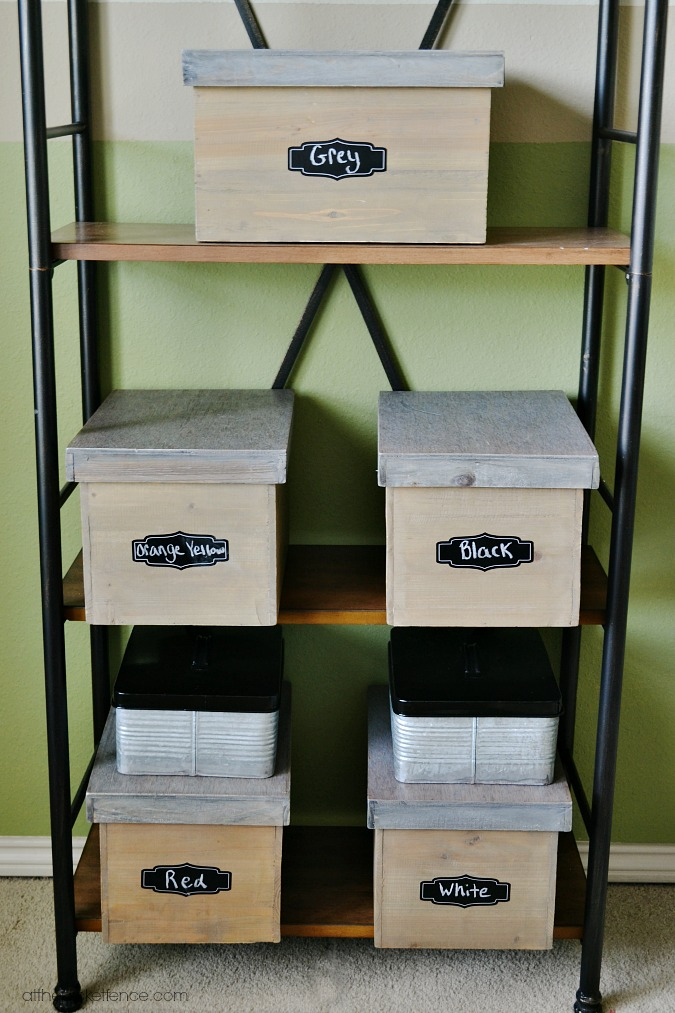chalkboard labels for Lego storage