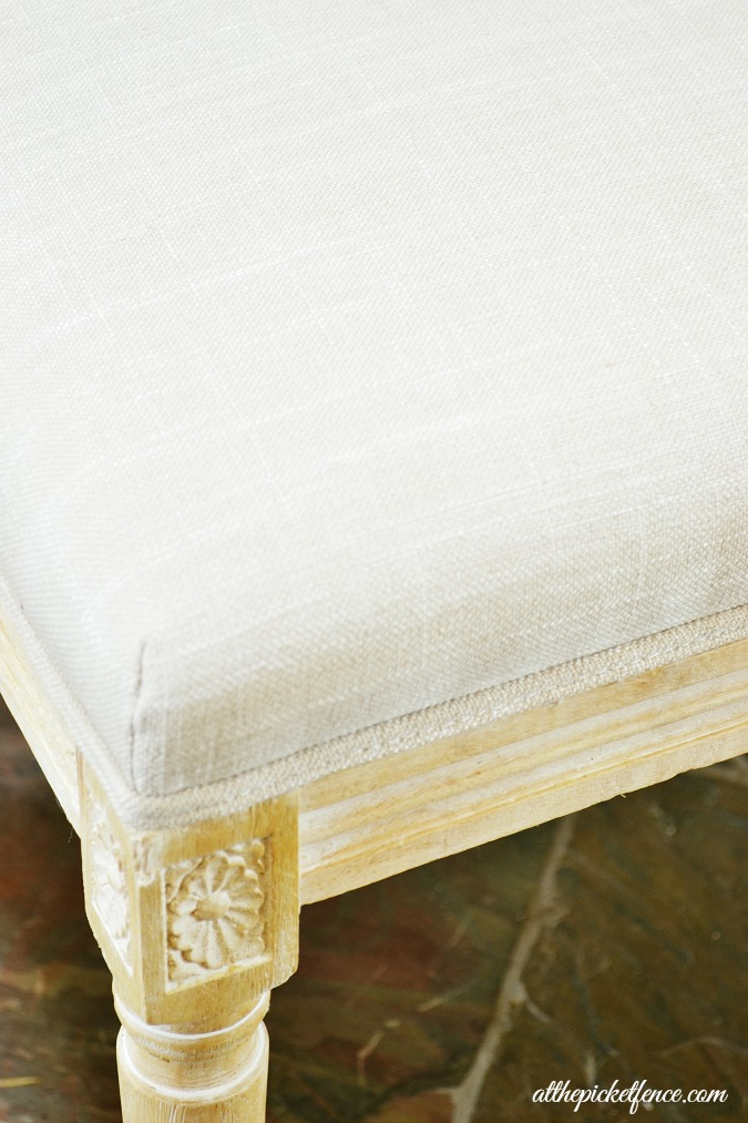 french country chair details