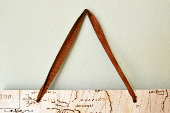 gift bag handle as hanging art