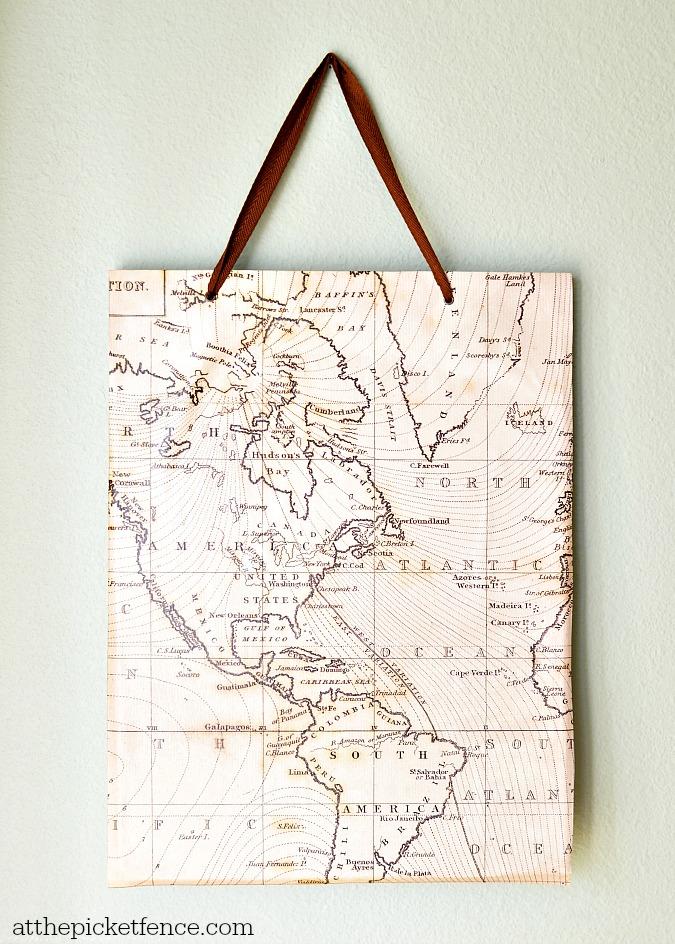 Gift Bag Turned Wall Art