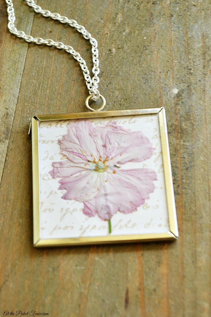 how to make a dried flower necklace atthepicketfence.com - Copy