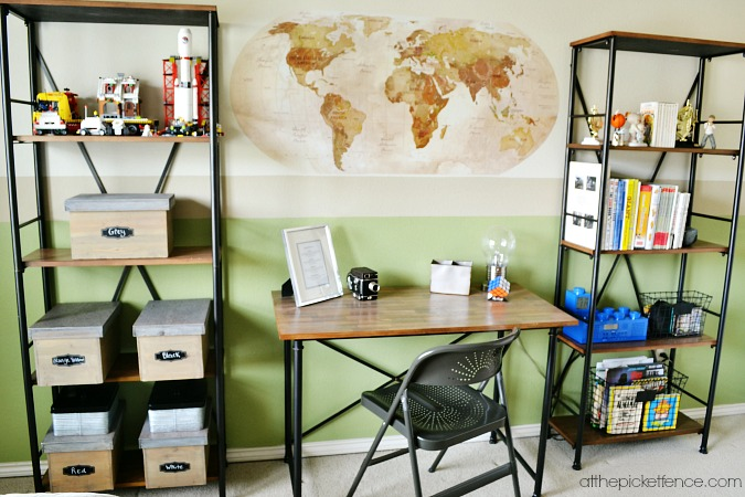 tween boy desk and shelving atthepicketfence.com