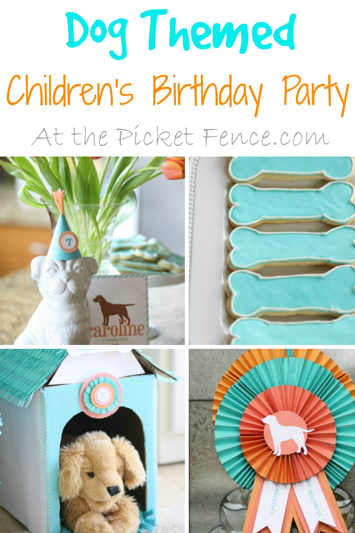 Dog themed children s birthday party from atthepicketfence com
