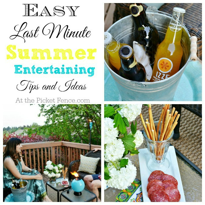 Easy last minute summer entertaining tips from atthepicketfence.com