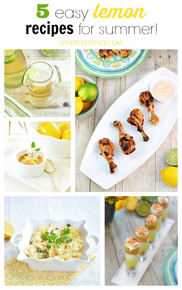 Pucker Up! 5 easy lemon recipes for summer!