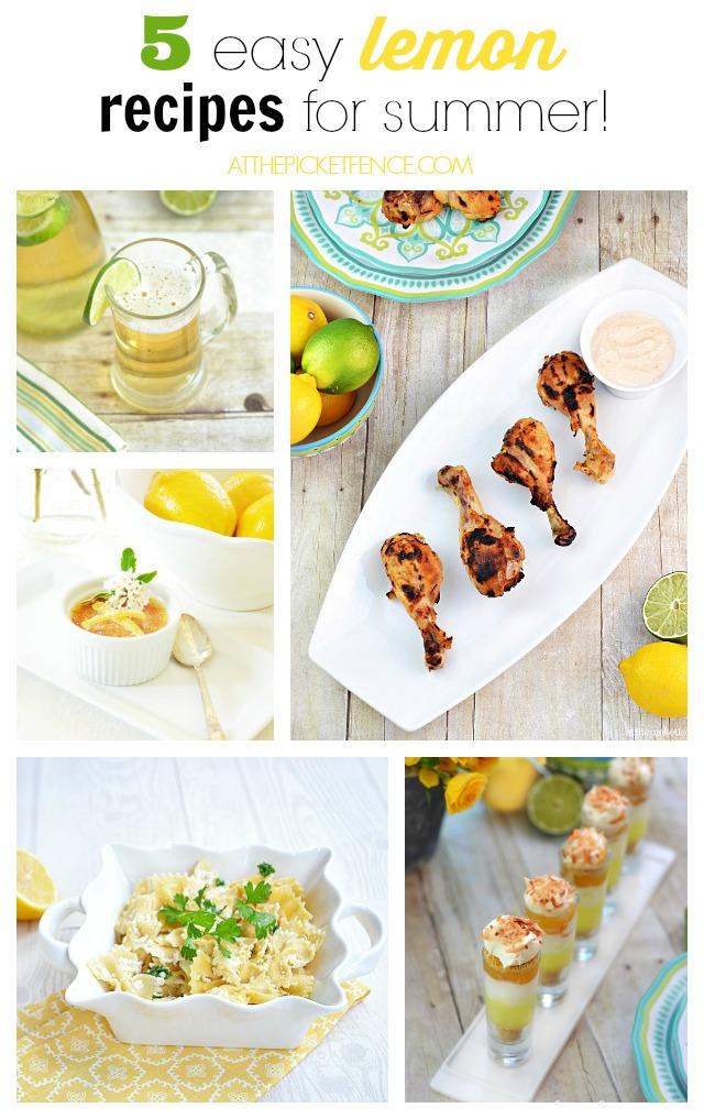 Pucker Up! 5 easy lemon recipes for summer!