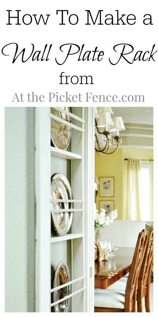 How to Make a Wall Plate Rack atthepicketfence.com
