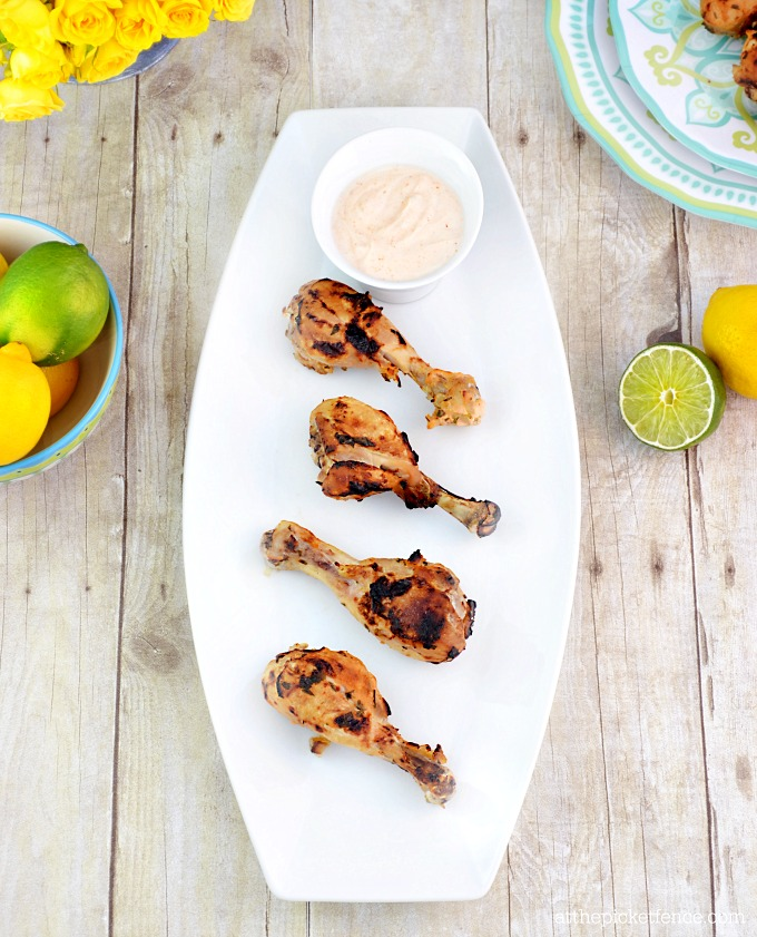 Lemon-Lime and Greek Yogurt Marinated Chicken Drumsticks