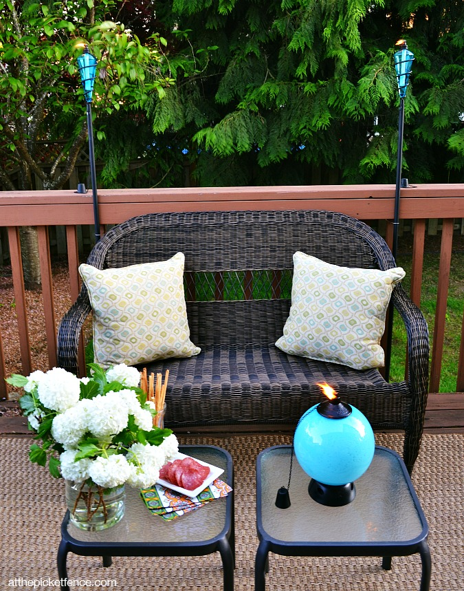 Tiki torches for outdoor entertaining