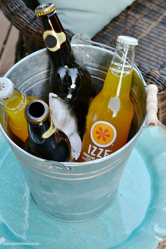 galvanized bucket drink cooler