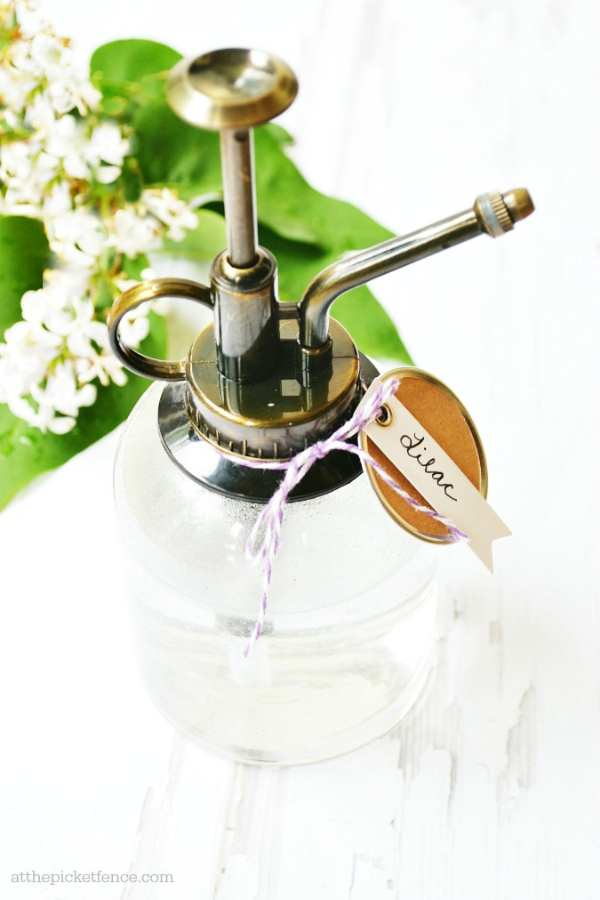 homemade lilac room spray