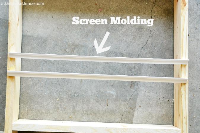 screen molding detail