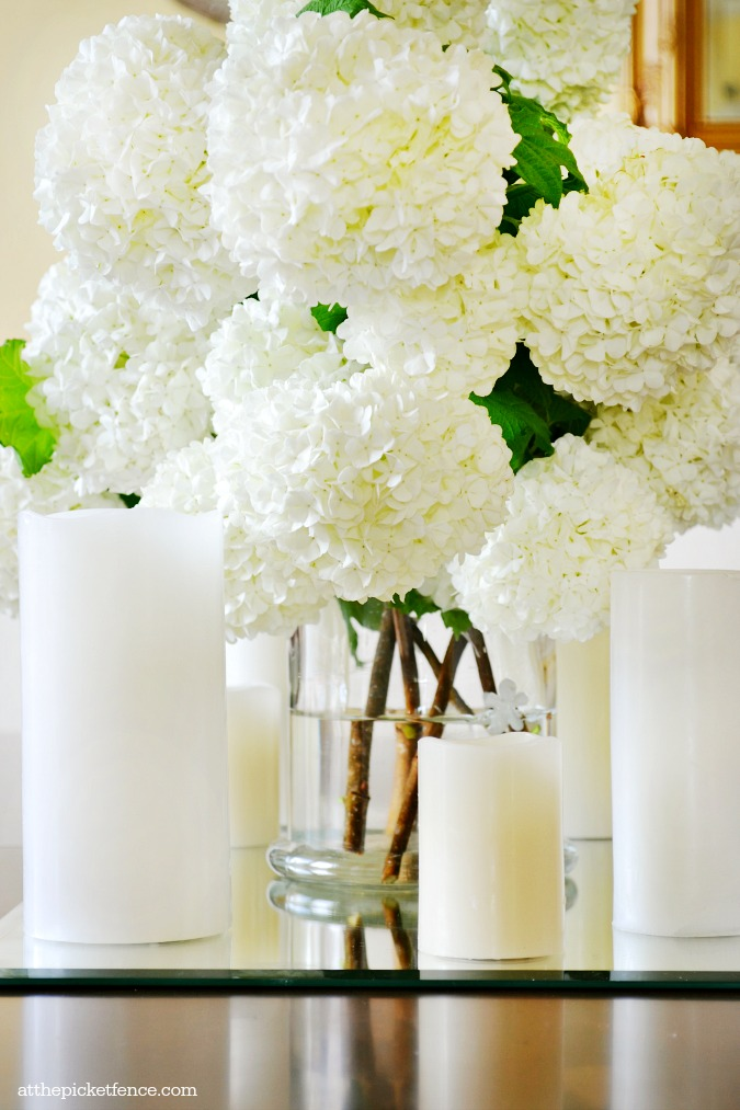 snowball blossoms centerpiece