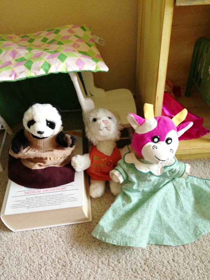 stuffed animal fashion show