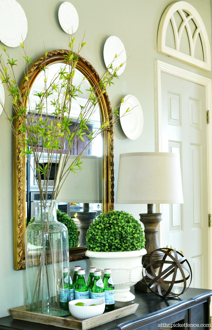 Summer home tour 2014 at the picket fence for Ways to decorate dining room
