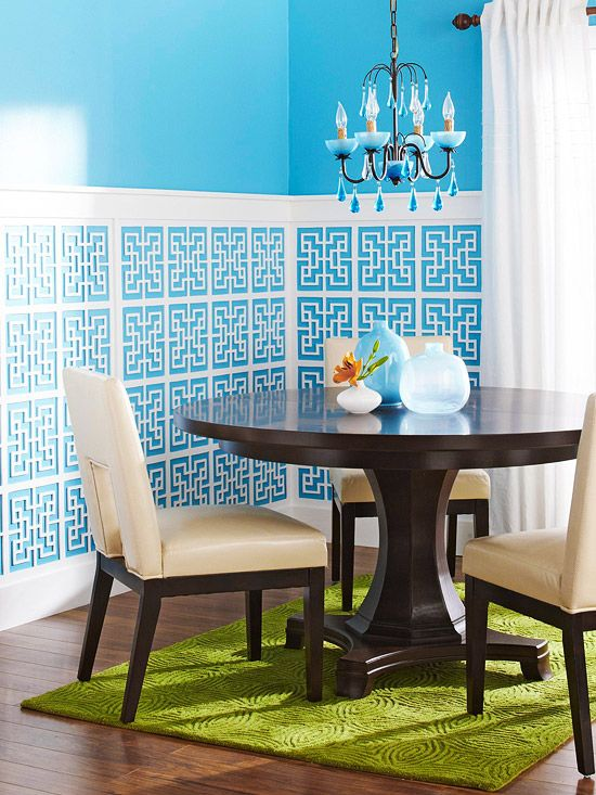 Blue Walls with Wainscoting