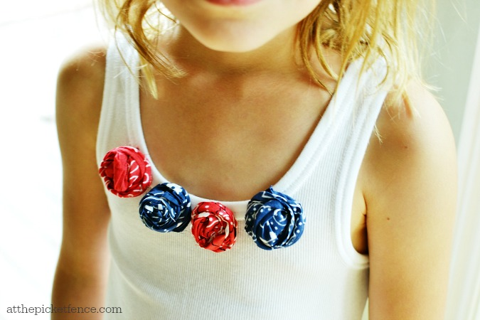 Bandana rosette tank top for 4th of July
